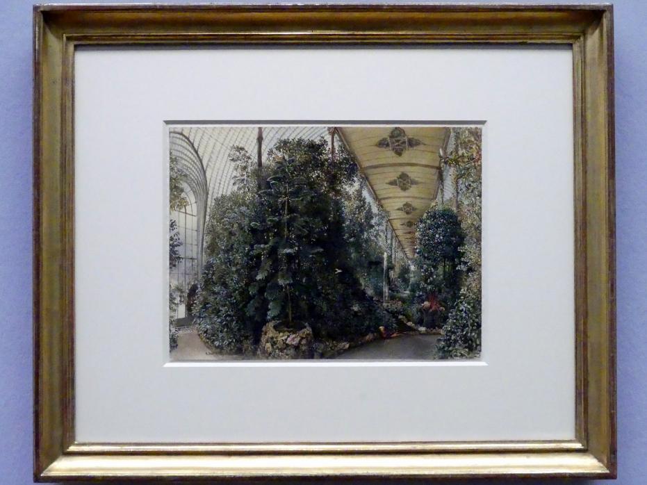 Rudolf von Alt: Das Palmenhaus von Schloss Eisgrub, 1842