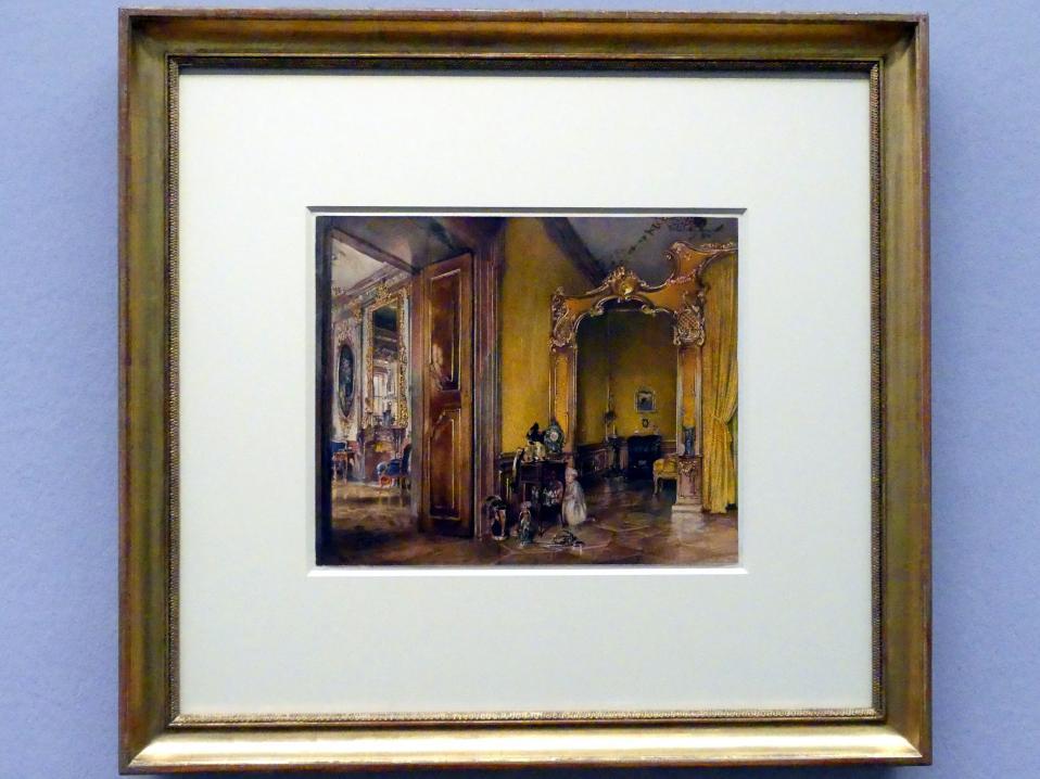 Rudolf von Alt: Der Gelbe Salon in Schloss Feldsberg, 1845