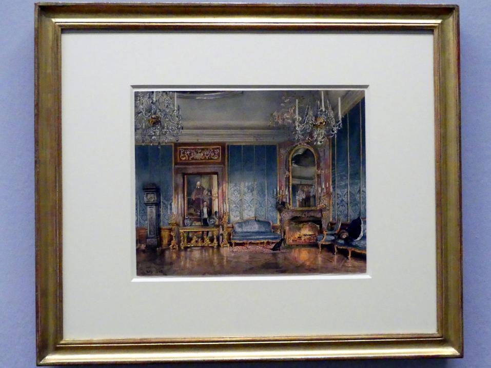 Rudolf von Alt: Der Blaue Salon in Schloss Feldsberg, 1845