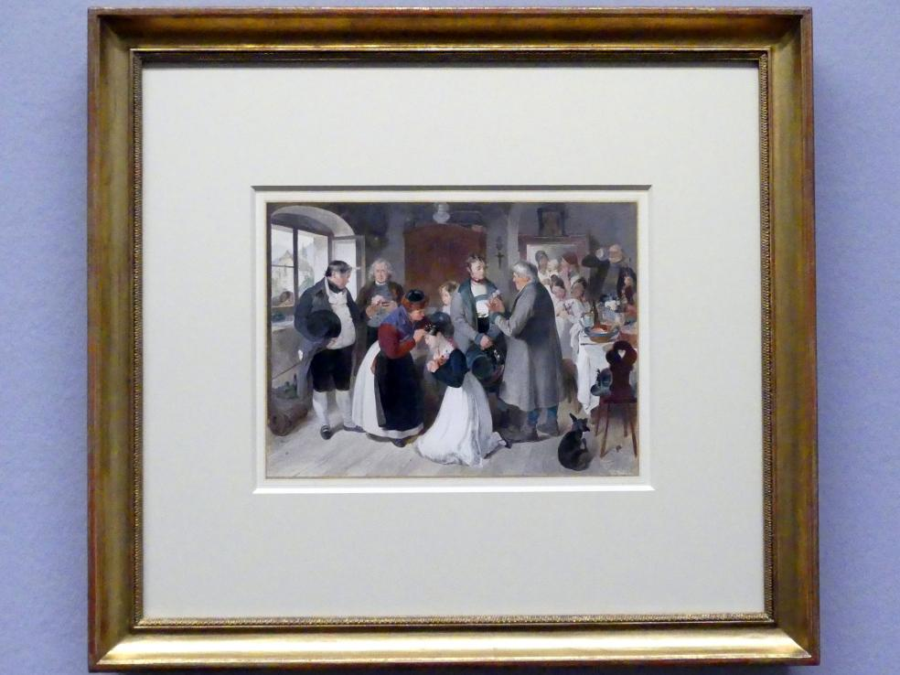 """Peter Fendi: Das Lied von der Glocke - """"Lieblich in der Bräute Locken"""", 1832"""