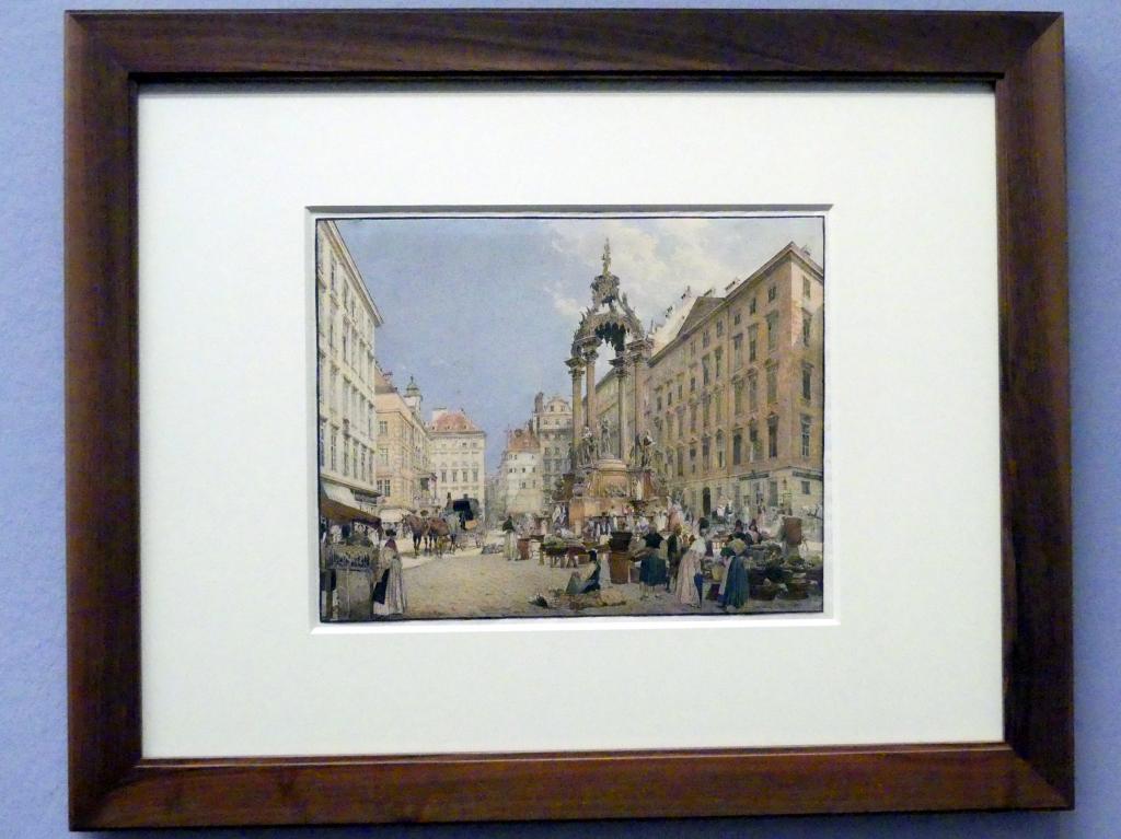 Rudolf von Alt: Der Hohe Markt in Wien, 1836