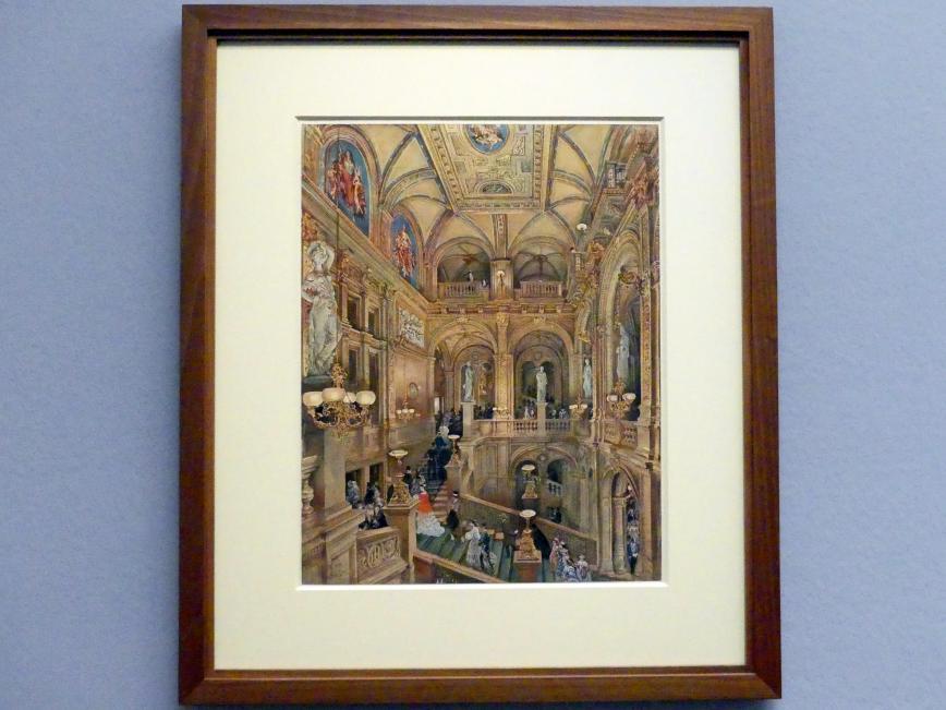 Rudolf von Alt: Das Treppenhaus des k.k. Hof-Operntheaters, 1873