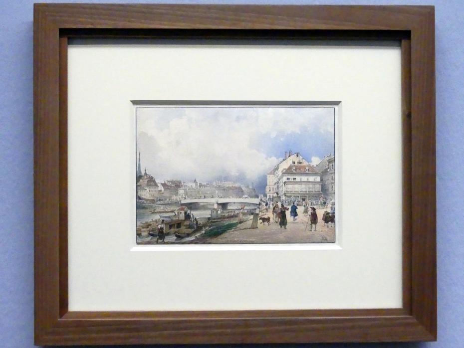 Rudolf von Alt: Blick auf Wien über die Ferdinandsbrücke, 1838