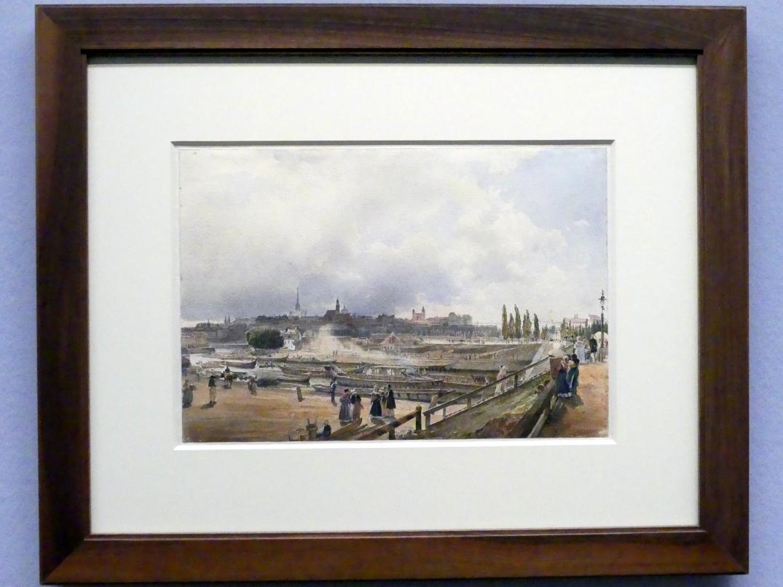 Rudolf von Alt: Blick auf Wien vom Donaukanal, 1838