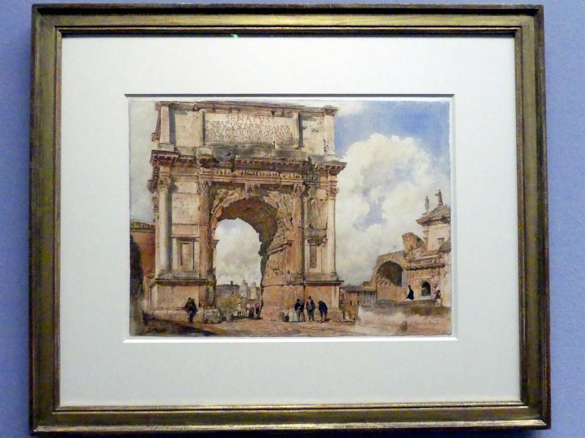 Rudolf von Alt: Der Titusbogen in Rom, 1872