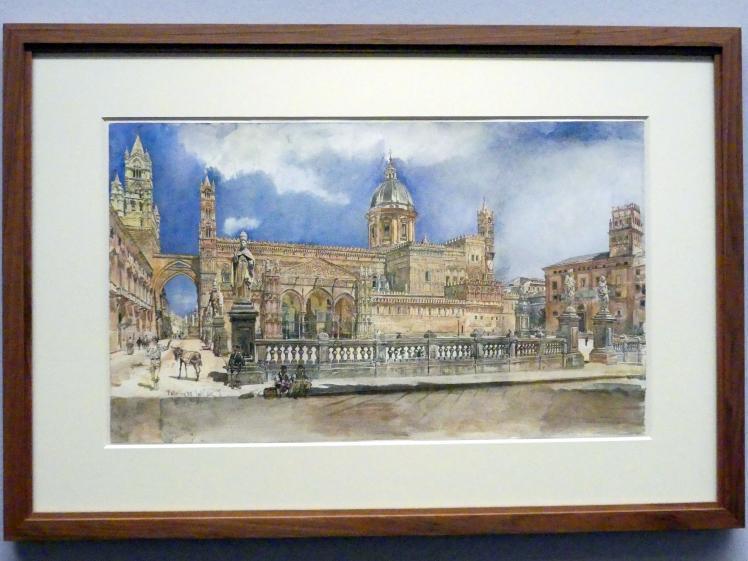 Rudolf von Alt: Die Kathedrale von Palermo, 1867
