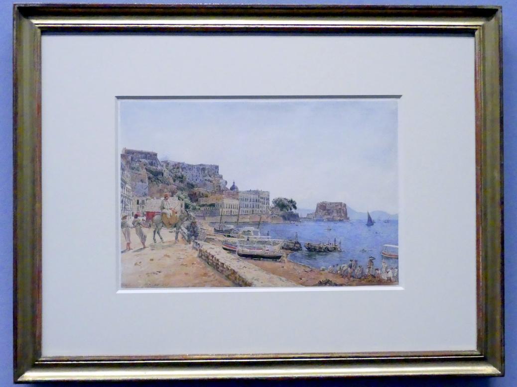 Jakob Alt: Blick auf das Castel dell'Ovo in Neapel, 1835