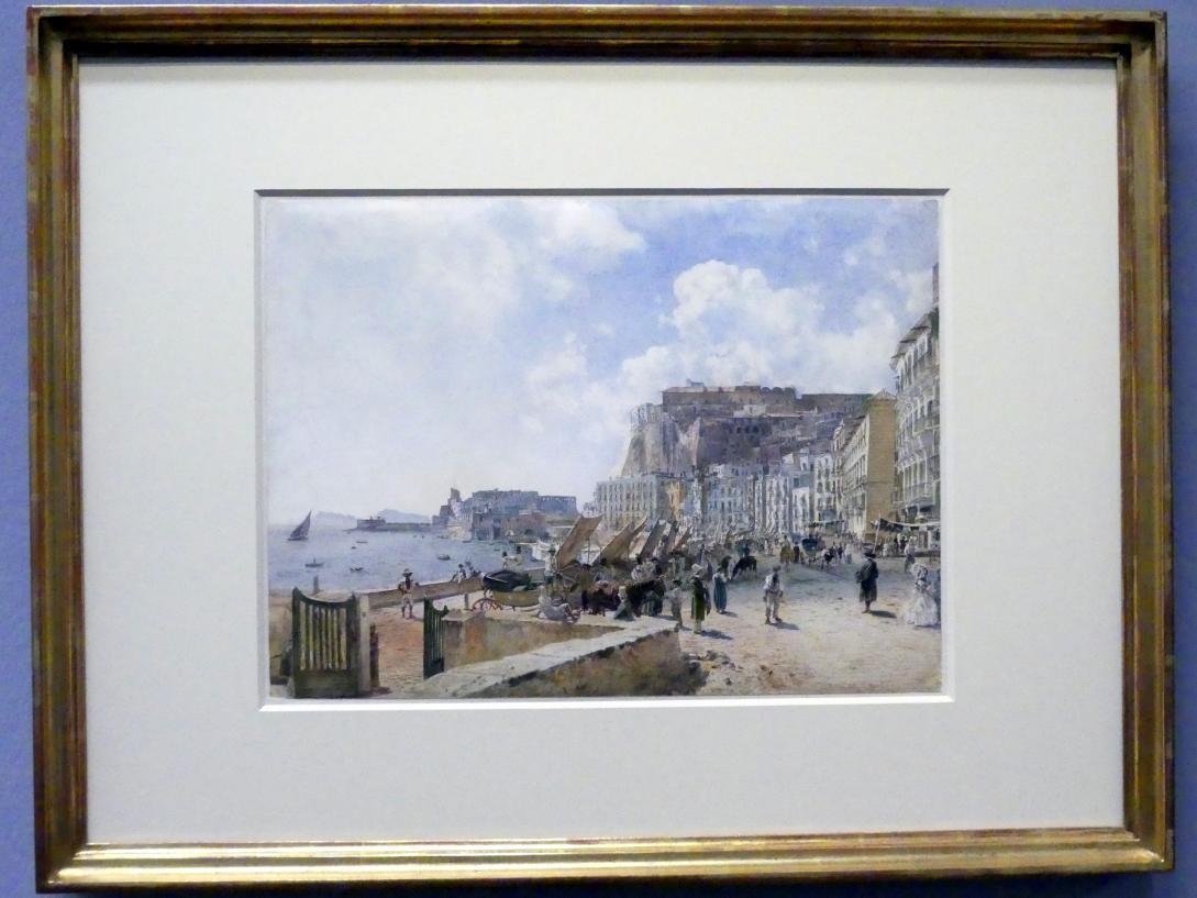 Rudolf von Alt: Der Hafen von Santa Lucia in Neapel, 1835