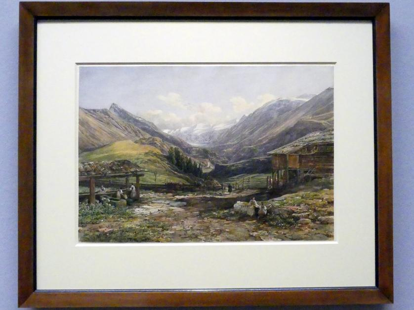 Thomas Ender: Blick in das Ötztal, um 1844