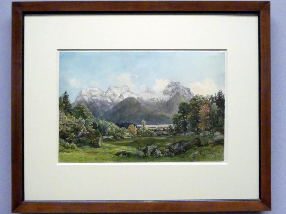 Thomas Ender: Blick ins Saalachtal bei Lofer, um 1842