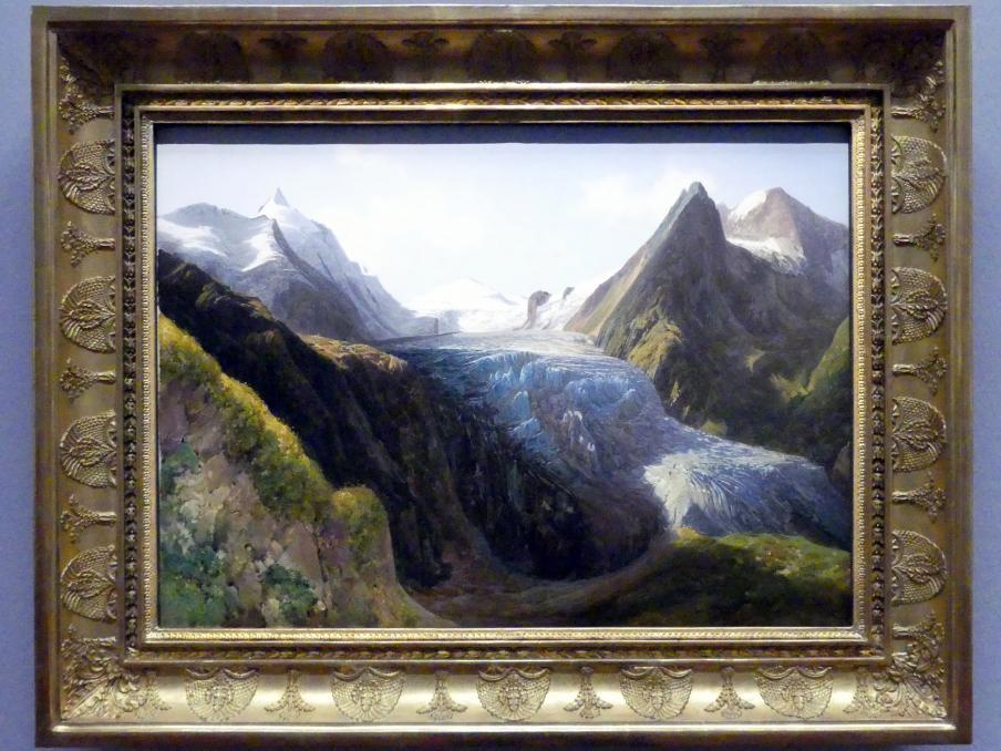 Thomas Ender: Ansicht der oberen und unteren Pasterze, um 1830