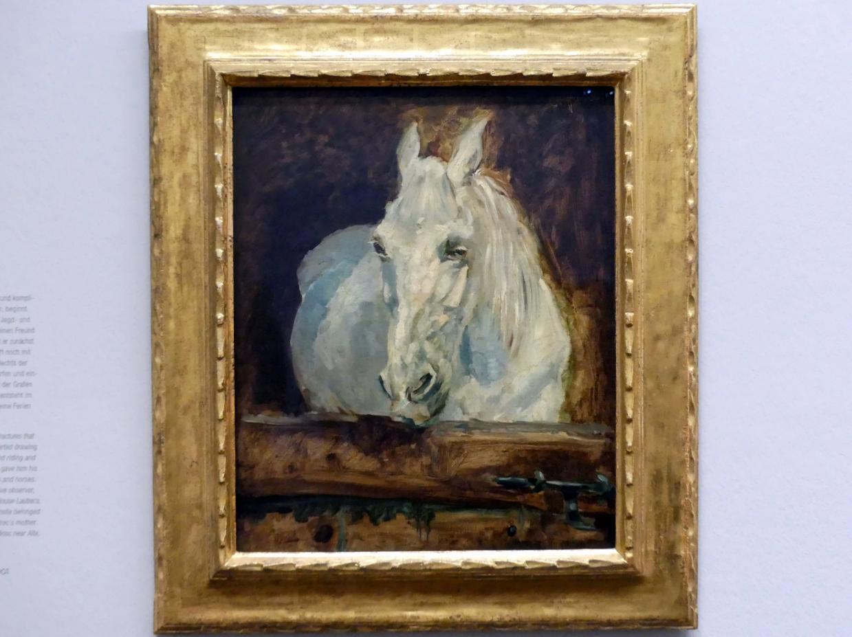 """Henri de Toulouse-Lautrec: Der Schimmel """"Gazelle"""", 1881"""