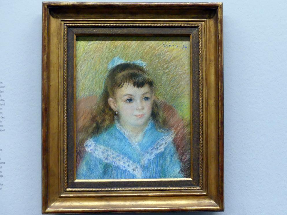 Auguste Renoir (Pierre-Auguste Renoir): Mädchenbildnis (Elisbaeth Maître), 1879