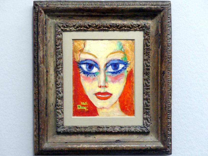 Kees van Dongen: Frau mit blauen Augen, 1955