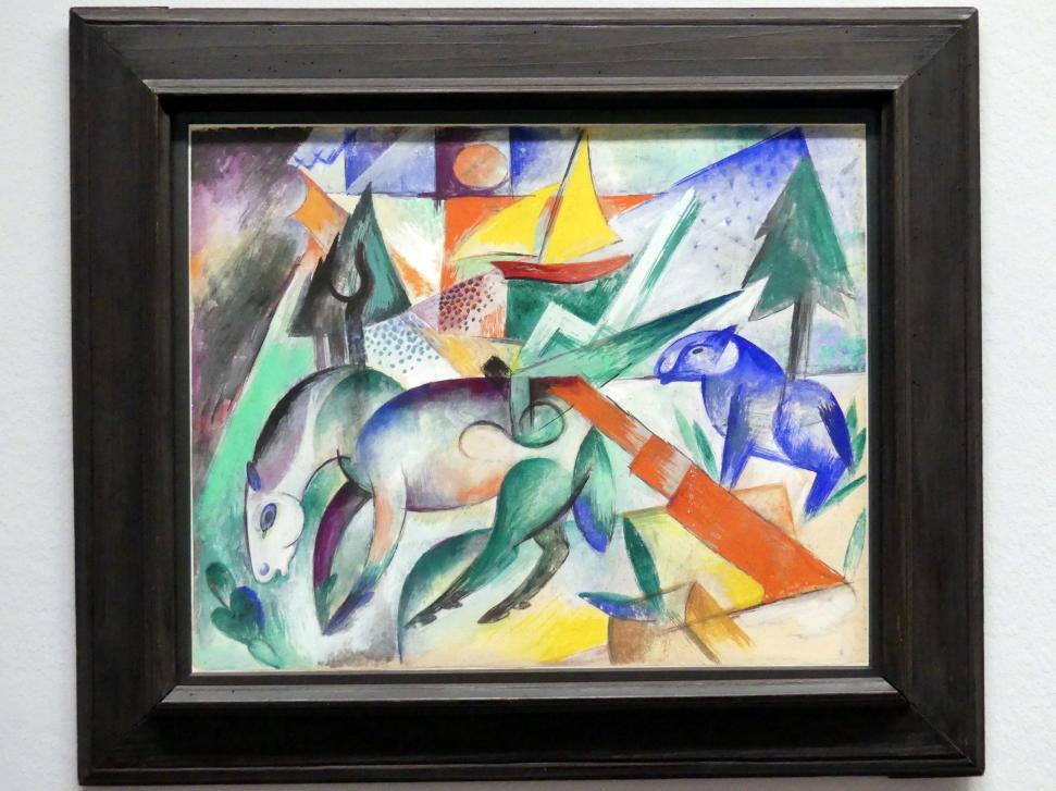 Heinrich Campendonk: Pferde am See, Um 1915