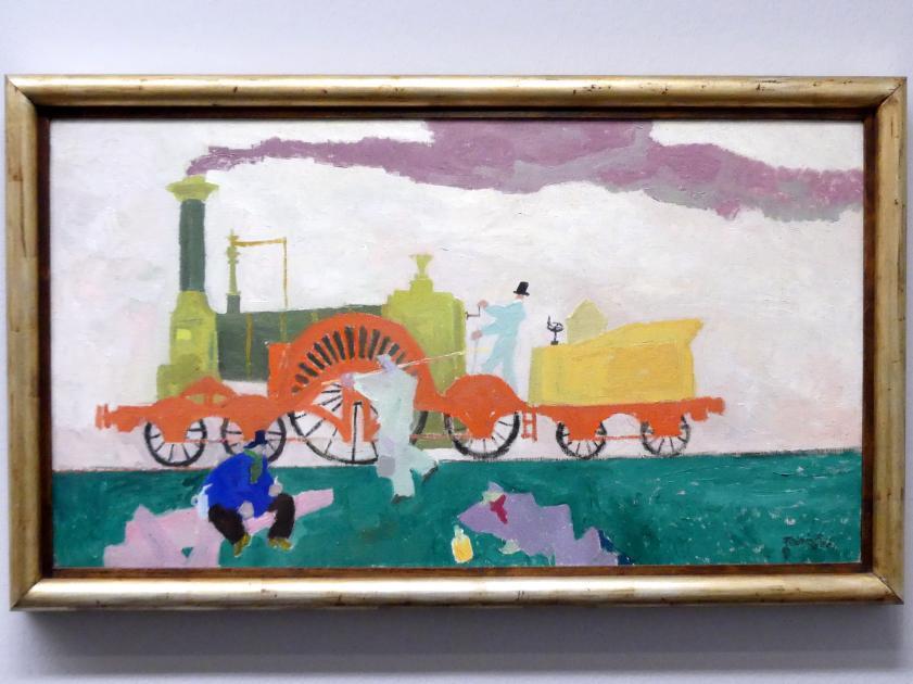 Lyonel Feininger: Die Lokomotive mit dem grossen Rad, 1910