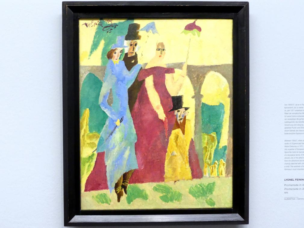 Lyonel Feininger: Promenade in Arcueil, 1915
