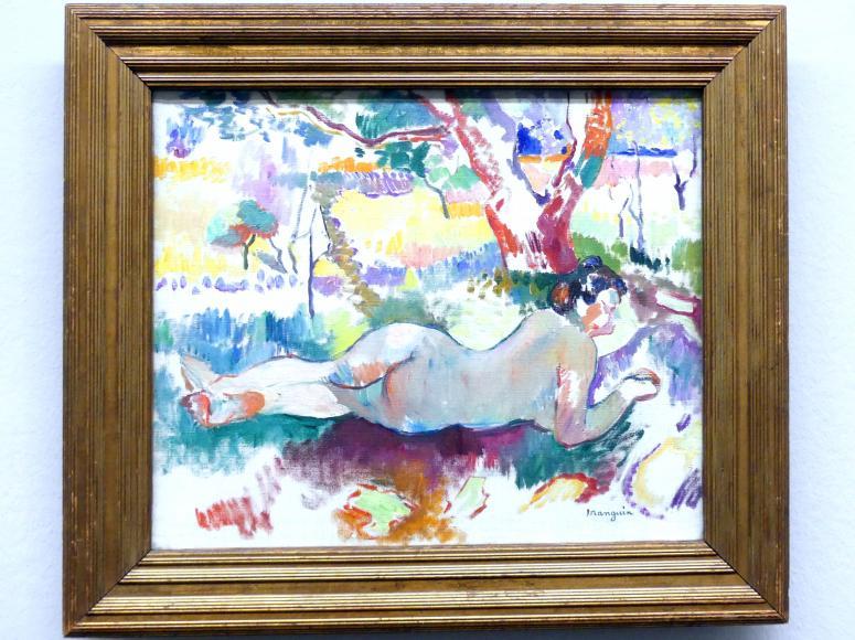 Henri Manguin: Rückenakt unter Bäumen, Villa Demière (Studie), 1905