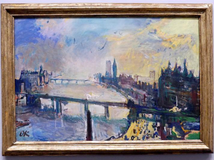 Oskar Kokoschka: London, kleine Themse-Landschaft, 1926