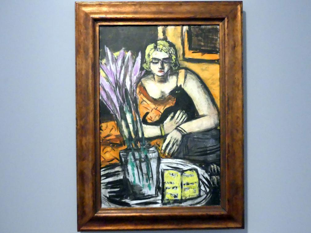 Max Beckmann: Frau mit Katze, 1942, Bild 1/2