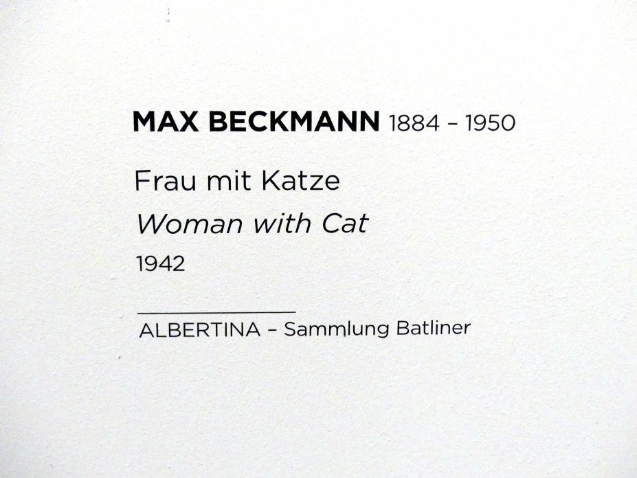Max Beckmann: Frau mit Katze, 1942, Bild 2/2