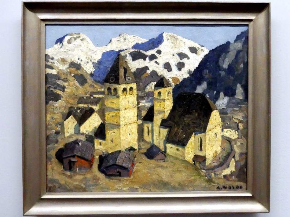Alfons Walde: Tiroler Bergstadt, 1924