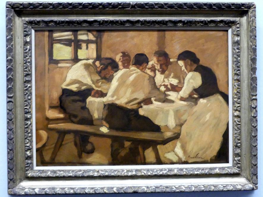 Albin Egger-Lienz: Das Mittagessen, um 1923