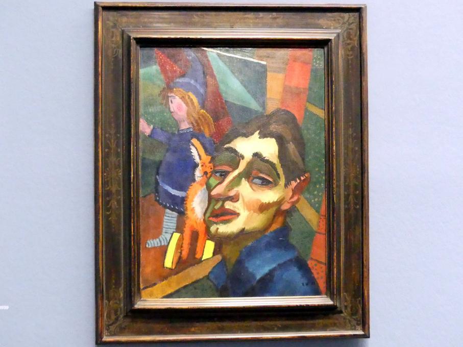 Rudolf Wacker: Selbstbildnis mit Puppe, 1923