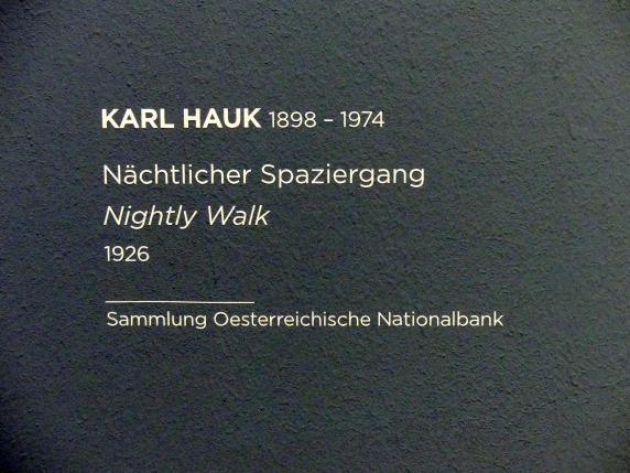 Karl Hauk: Nächtlicher Spaziergang, 1926, Bild 2/2