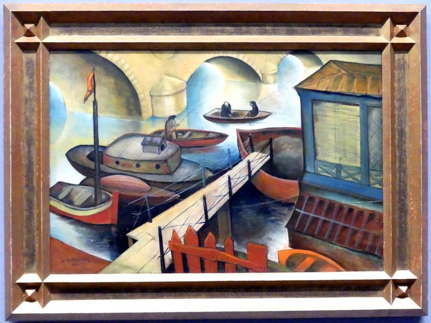 Viktor Planckh: Fischer an der Seine, 1928