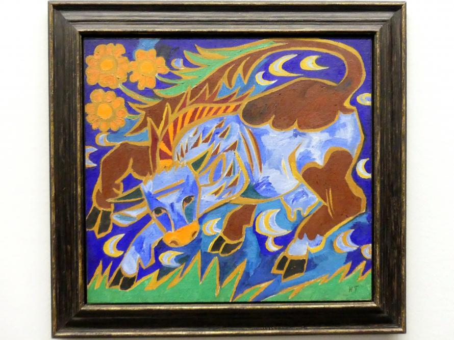 Natalija Sergejewna Gontscharowa: Die blaue Kuh, Um 1911
