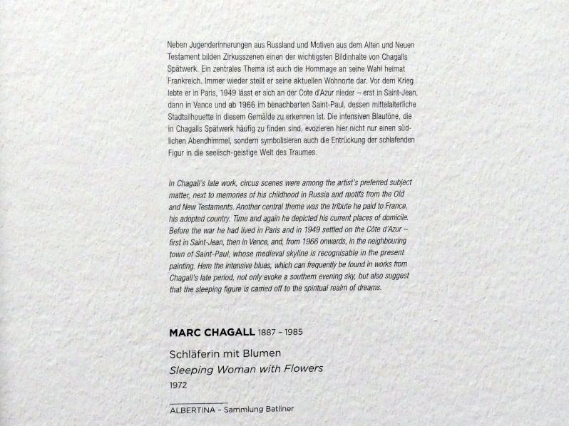 Marc Chagall: Schläferin mit Blumen, 1972, Bild 2/2