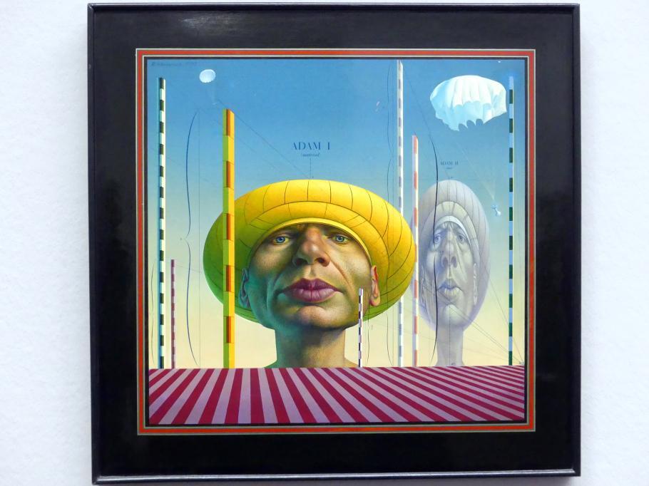 Rudolf Hausner: Adam 1 + 2 - Adam maßstäblich, 1972, Bild 1/2
