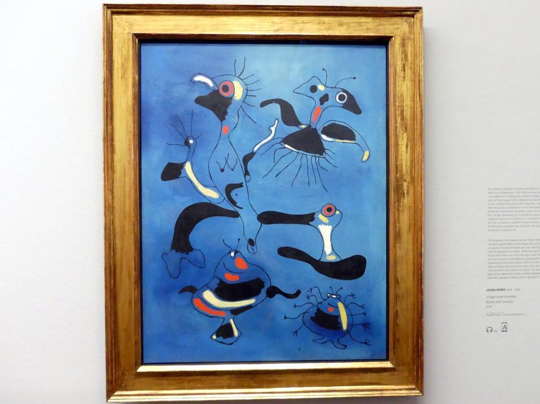 Joan Miró: Vögel und Insekten, 1938