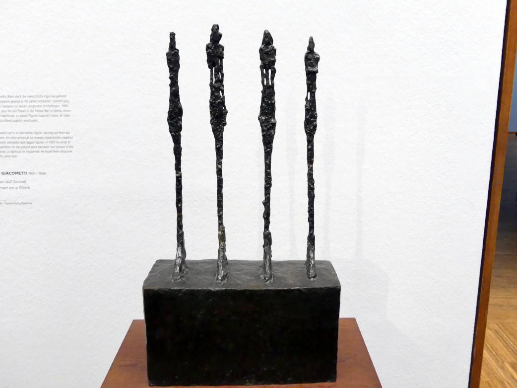 Alberto Giacometti: Vier Frauen auf Sockel, 1950