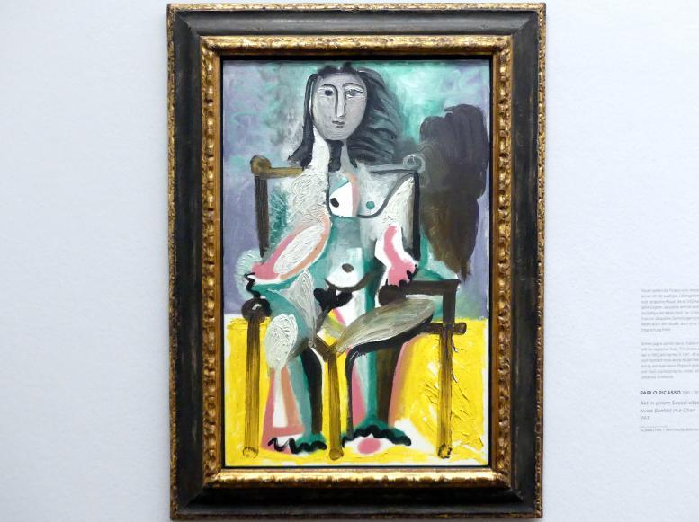 Pablo Picasso: Akt in einem Sessel sitzend, 1963