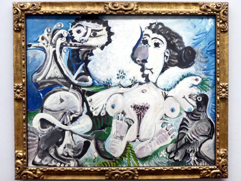 Pablo Picasso: Nackte Frau mit Vogel und Flötenspieler, 1967
