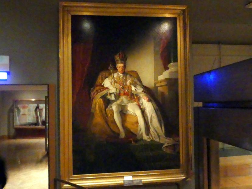 Friedrich von Amerling: Kaiser Franz I. von Österreich (1768-1835) im österreichischen Kaiserornat, 1832