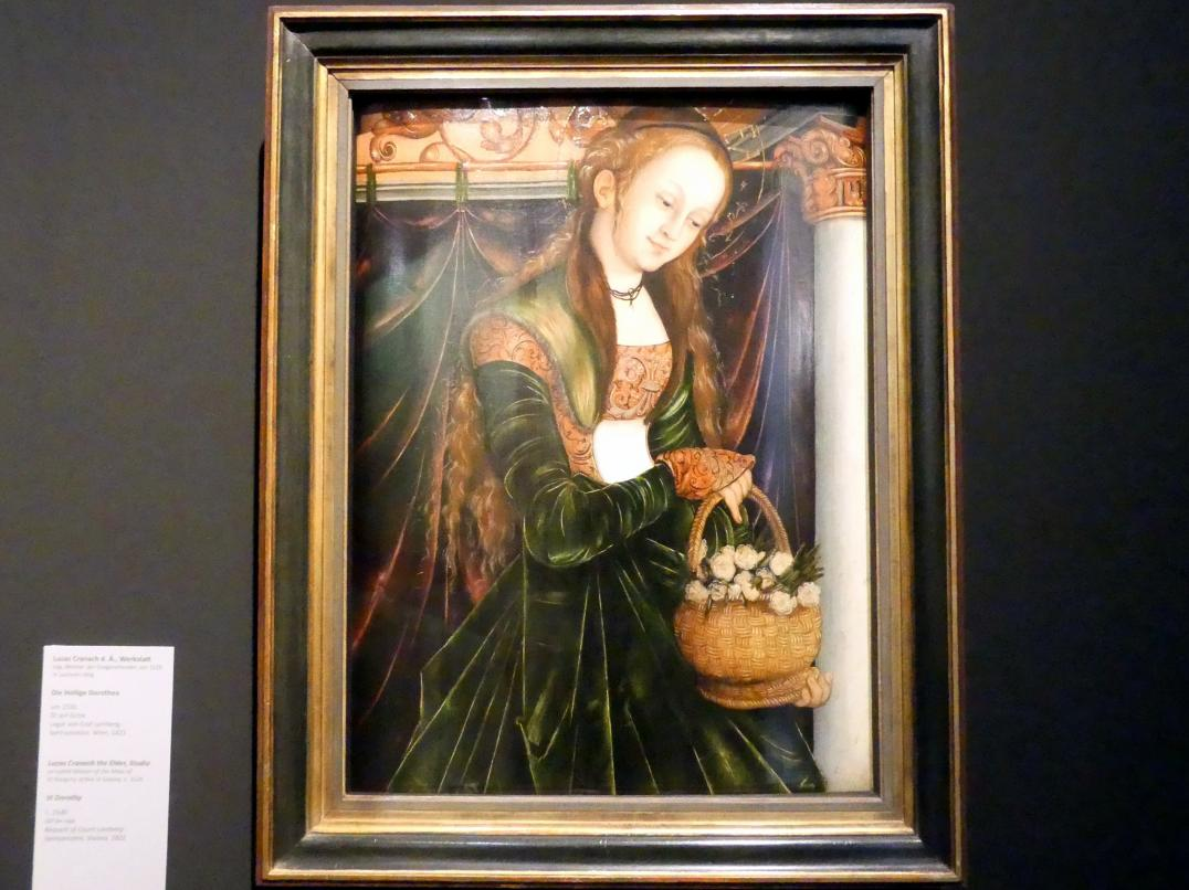 Lucas Cranach der Ältere (Werkstatt): Die Heilige Dorothea, um 1530