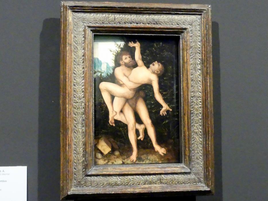 Lucas Cranach der Ältere: Herkules und Antäus, um 1530