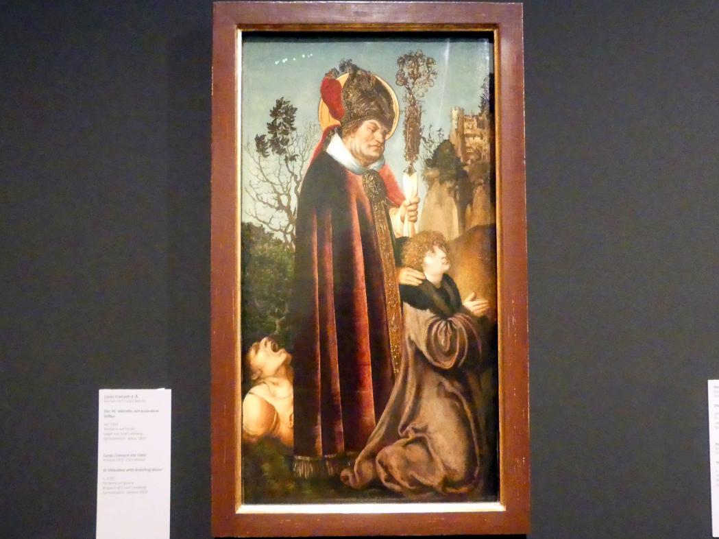 Lucas Cranach der Ältere: Der Hl. Valentin mit kniendem Stifter, um 1502
