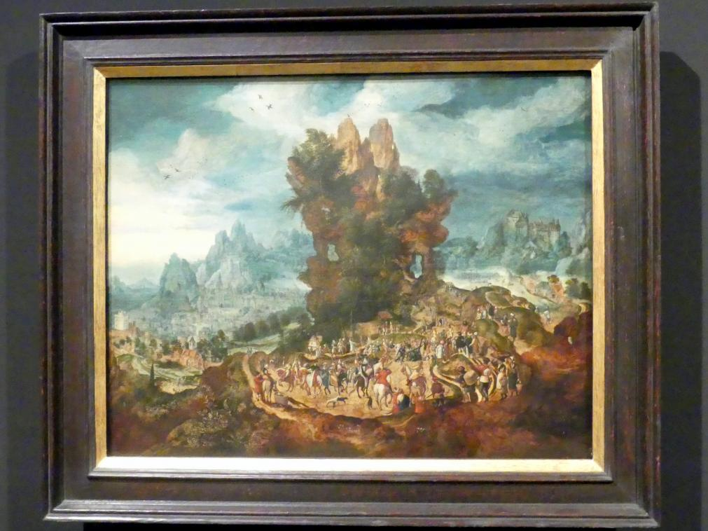 Herri met de Bles: Landschaft mit der Kreuztragung Christi, um 1525 - 1550