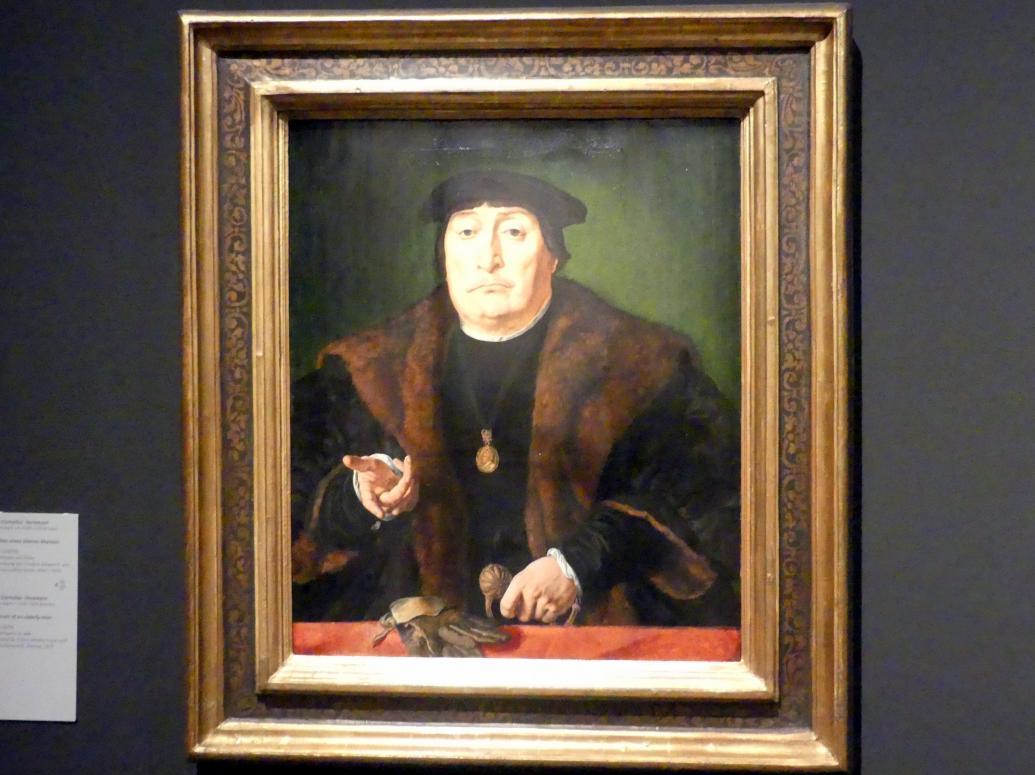 Jan Cornelisz Vermeyen: Bildnis eines älteren Mannes, Um 1528 - 1529