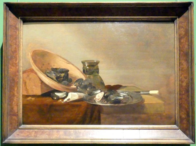 Abraham van Beyeren: Stillleben mit Blaumuscheln, um 1644
