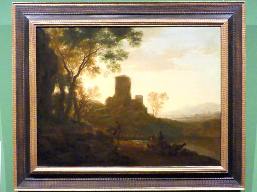 Jan Both: Italienische Landschaft mit verfallenem Turm, um 1638 - 1641