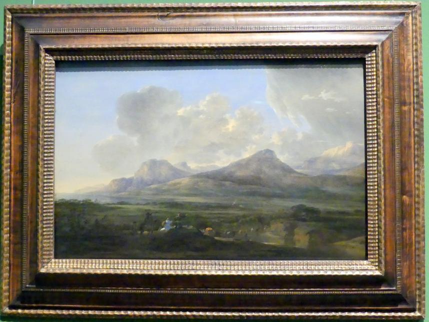 Jan Asselijn: Uferlandschaft mit Herdenzug, um 1648 - 1650