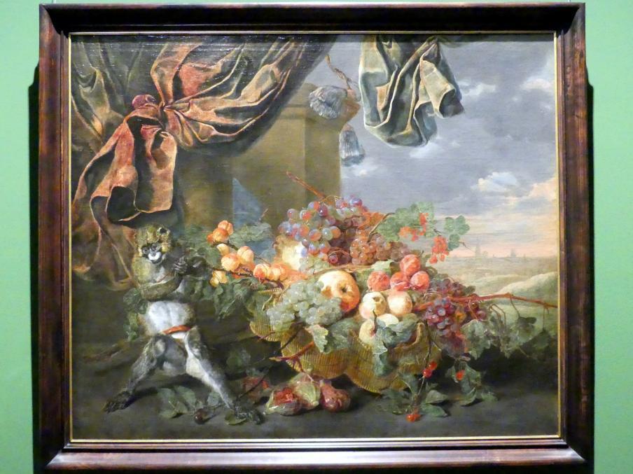 Jan Fyt: Früchtestillleben mit Affen, 1653