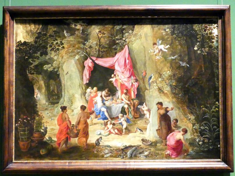 Hendrik van Balen der Ältere: Odysseus zu Gast bei der Nymphe Kalypso, um 1616