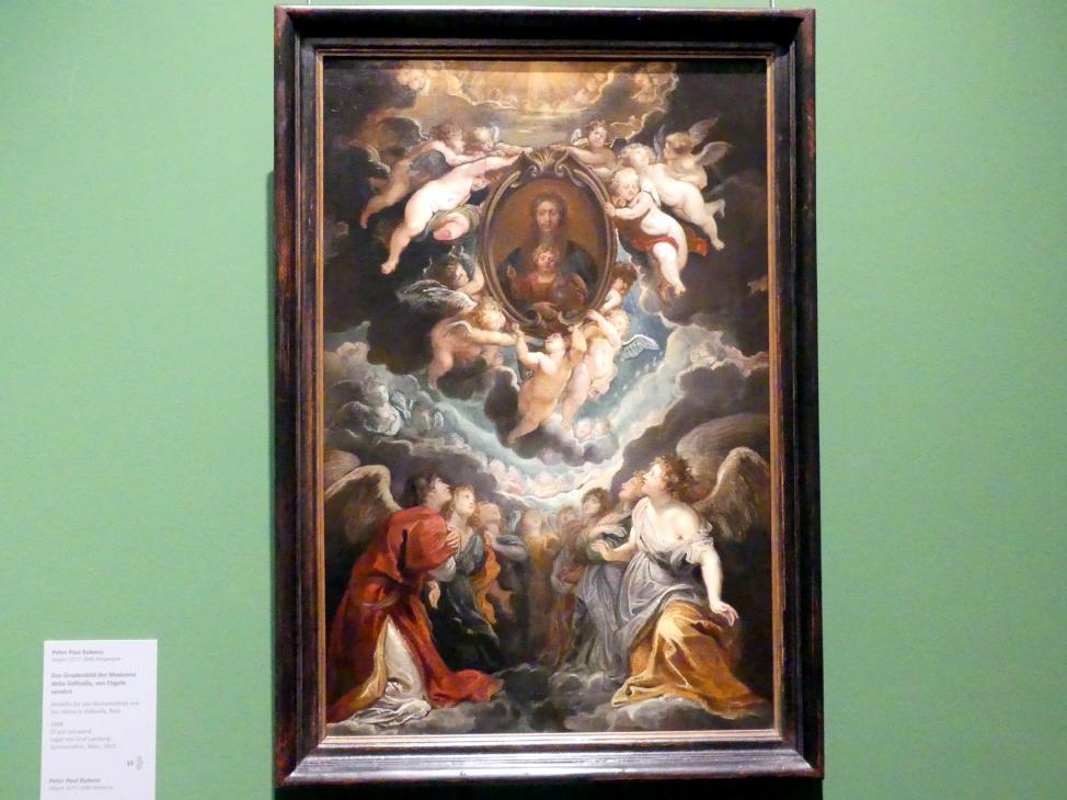 Peter Paul Rubens: Das Gnadenbild der Madonna della Vallicella, von Engeln verehrt, 1608
