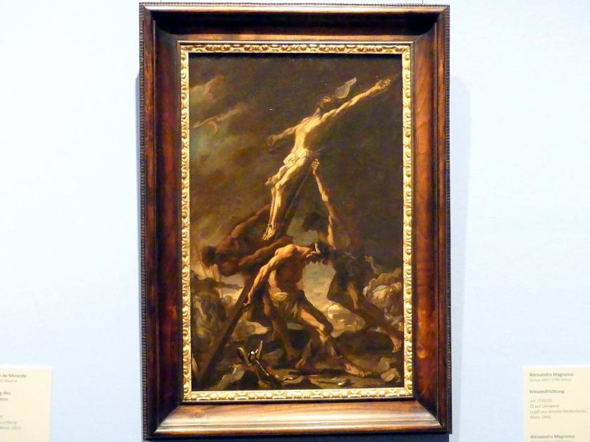 Alessandro Magnasco: Kreuzaufrichtung, um 1730 - 1735